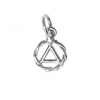 Very Small AA Symbol Twist Wire Style Pendant