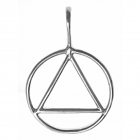 Large Sterling Silver Simple Wire Pendant