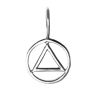 Small Size, Sterling Silver Simple Wire Look Pendant
