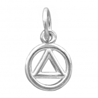Sterling Silver, Small Circle Triangle Pendant