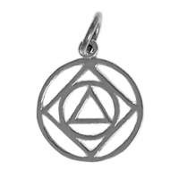 Sterling Silver, AA & NA Anonymous Dual Symbol Pendant