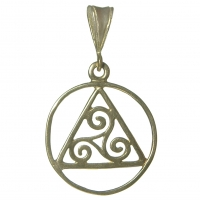 AA Smooth Pendant with Celtic Symbol