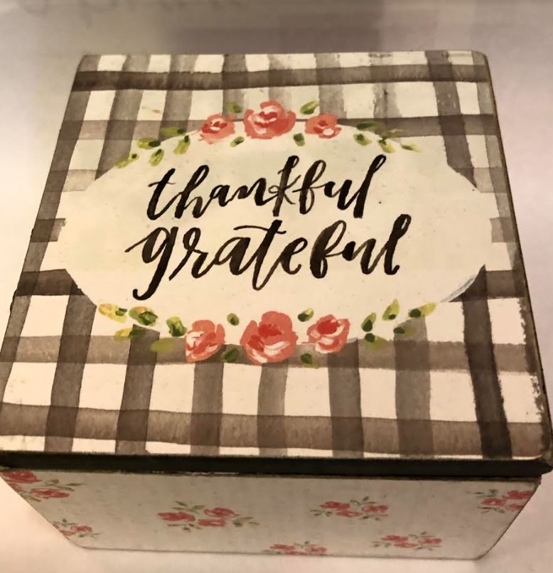 Thankful Grateful Hinged Box