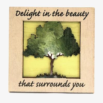 Delight In Beauty Tree Mini Plaque