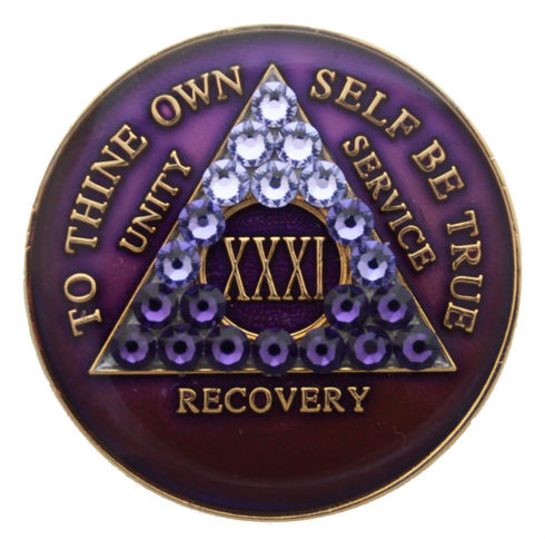 FREE SHIPPING! AA Purple Crystallized Transition Medallion