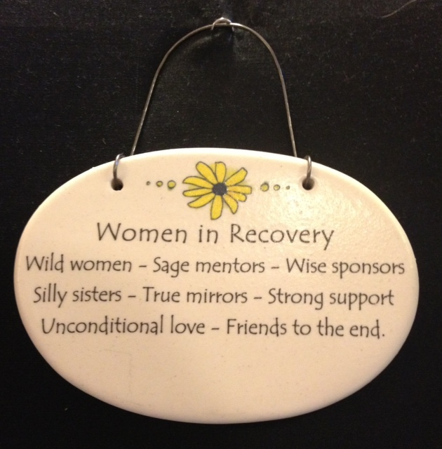 Women In Recovery Plaque (Black Eyed Susan)